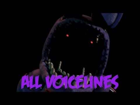 Withered Bonnie | All Voicelines With Subtitles | Ultimate Custom Night