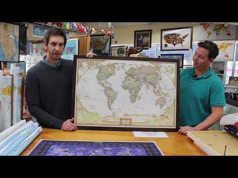 the-map-shop---12-days-of-christmas---day-1-deal---national-geographic-framed-world-map!