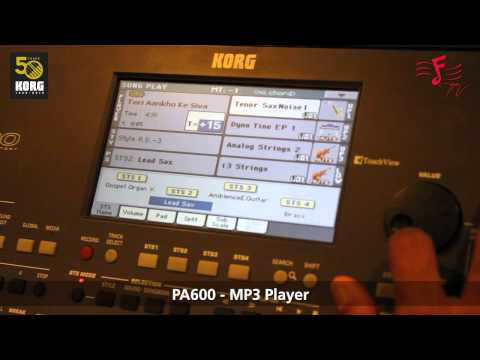 KORG PA-600 - How To Use The Mp3 Feature