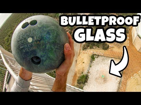 BOWLING BALL Vs. BULLETPROOF GLASS from 45m! (150 ft)