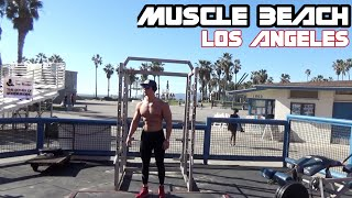 Entreno PUSH-PULL en Muscle Beach, California