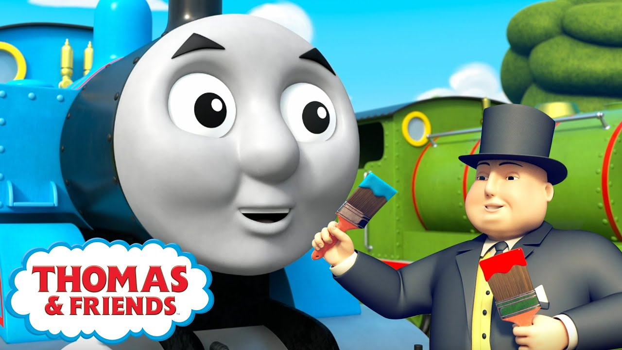 Thomas & Percy Learn About Mixing Colours | BRAND NEW | Learn with Thomas | Cartoons for Kids