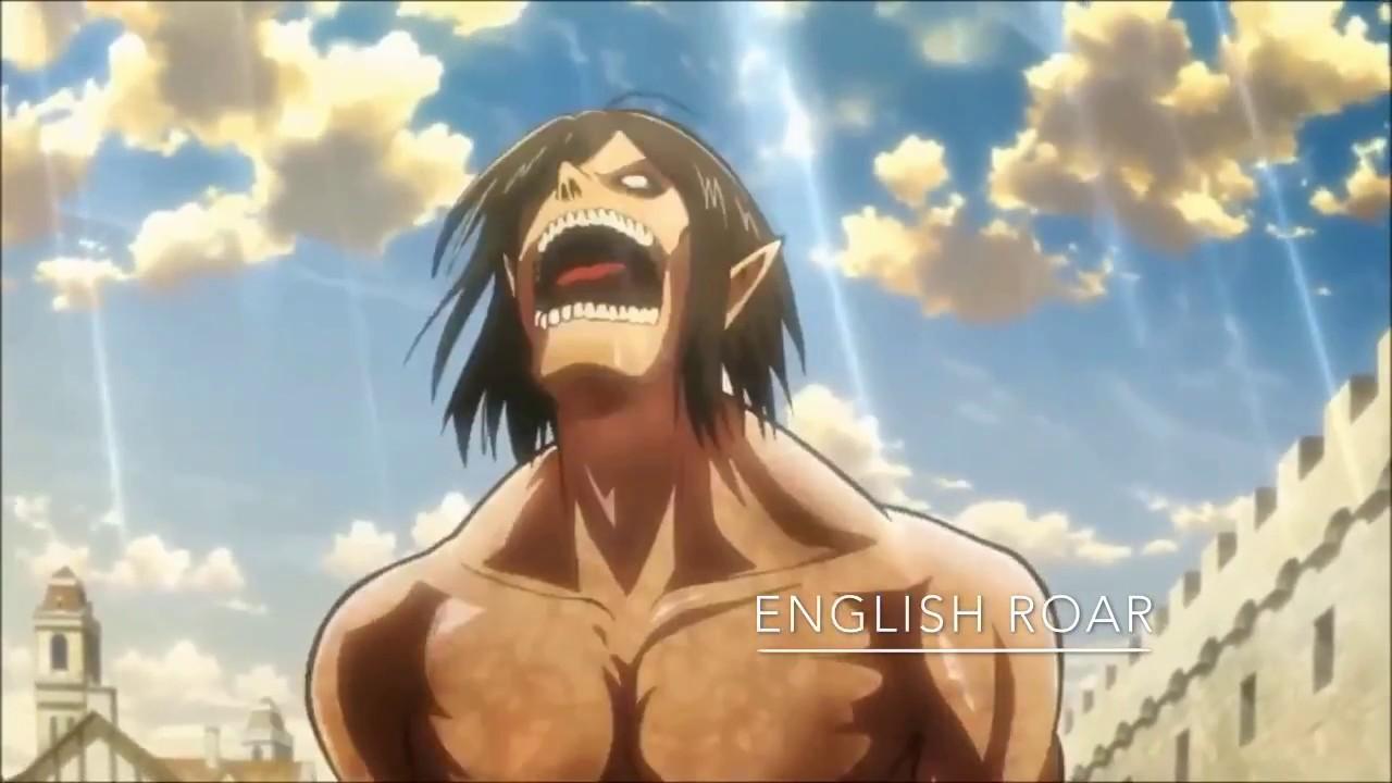 eren titan roar Eren titan roar in English Japanese and Italian