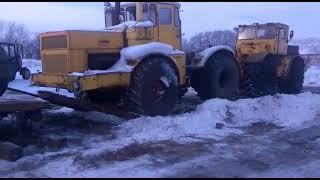 погрузка тракторов К701 выигранные с торгов по банкротству