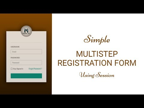 Simple Multi-step Registration Form Using SESSION