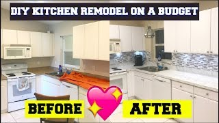 DIY KITCHEN REMODEL ON A BUDGET!