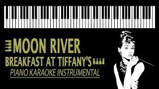 "Moon River KARAOKE - by ""Breakfast at Tiffany's"" (Piano Version)"