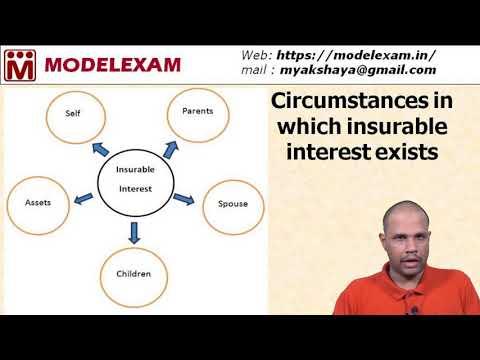 Insurance - Principle of Insurable Interest