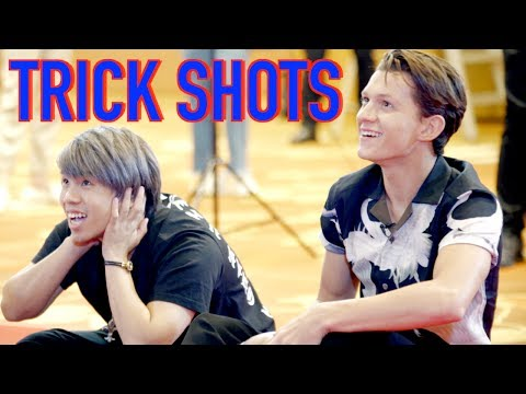 BASKETBALL CHALLENGE WITH SPIDERMAN (TOM HOLLAND)