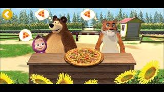 Маша и медведь: пиццерия.