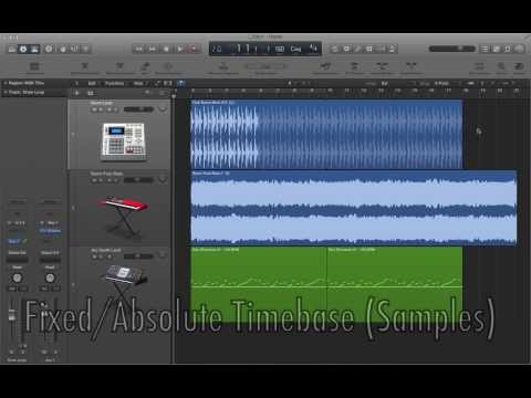 Logic Pro X - Video Tutorial 21 - Tempo Changes with Flex Time