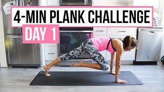 4-Minute Plank Tabata Challenge (Day 1): High Plank Exercises