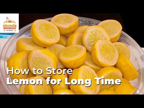 How To Store Lemon For 1 Year | How To Store Lemon Juice  | Time Saving Cooking | Hyderabadi Ruchulu