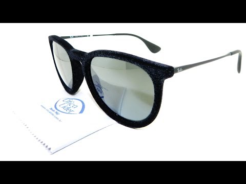 Óculos de Sol Ray-Ban Erika Veludo Preto 4171 6075 6g 54 - YouTube 9573f24577