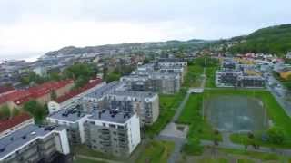 DJI Phantom 3 flight over Møllenberg, Trondheim - Norway at 04:00AM. RAIN (Not planned for)