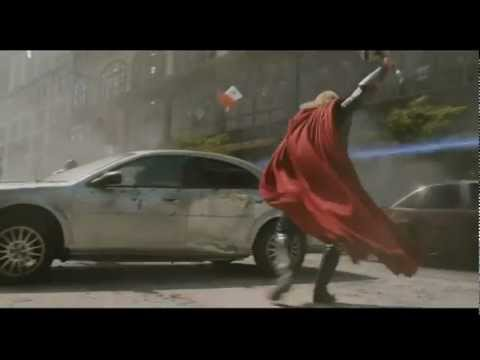 The Avengers - Clip #4 - Captain America & Thor Fight Aliens