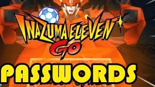 ☠ Inazuma Eleven GO Strikers 2013 ☠  Passwords dos Jogadores Secretos