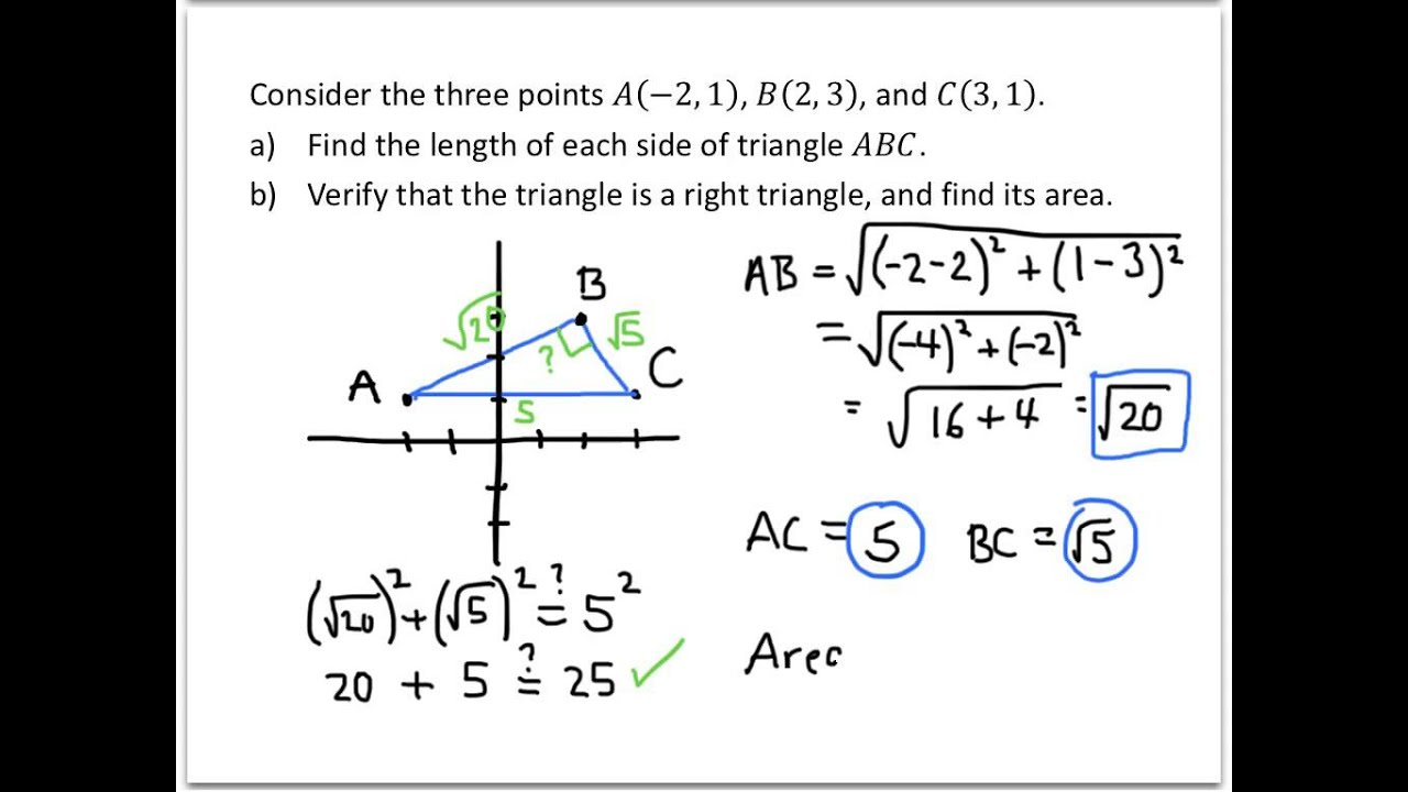 College Algebra Examples Applications Of The Distance And Midpoint