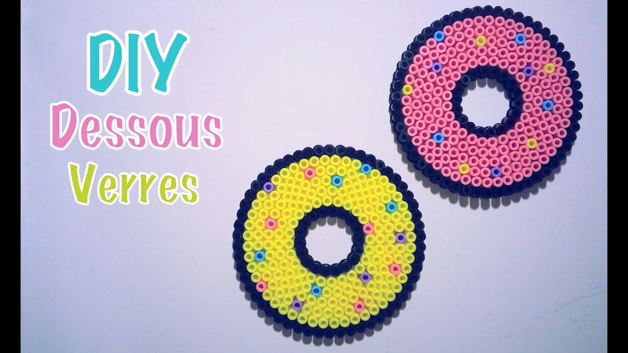 diy dessous de verres perles repasser donut youtube. Black Bedroom Furniture Sets. Home Design Ideas