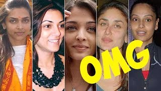 Top 10 Bollywood Actress Unbelievable Faces Without Makeup // 2016