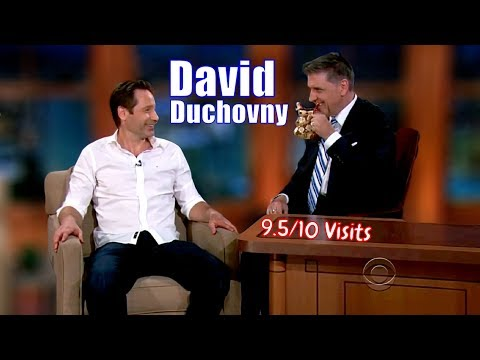 David Duchovny  The First Ever Guest On Ferguson's TLLS  9.510 Visits In Chronological Order