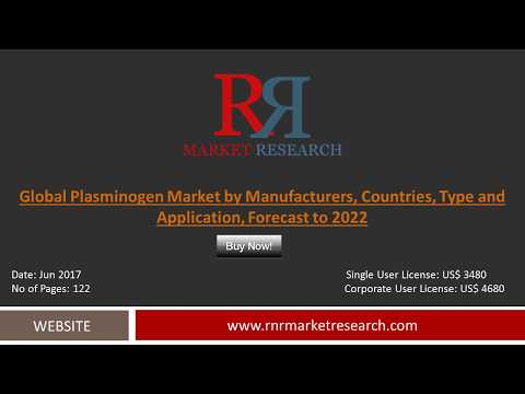 Plasminogen Market 2017: Strategic Analysis, Latest Innovations, Challenges, Industry Growth by 2022
