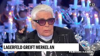 Lagerfeld greift Merkels Flüchtlingspolitik an