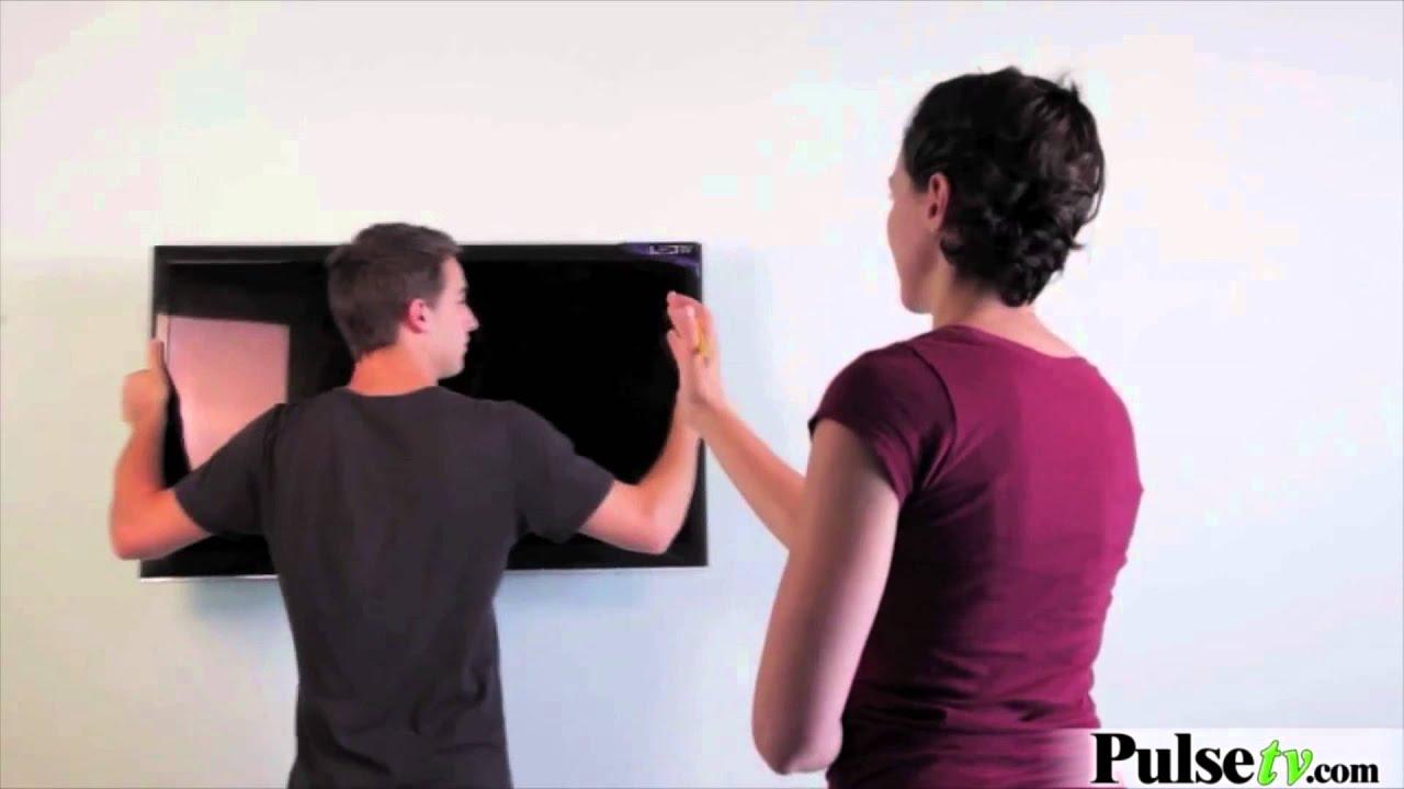 No Stud Tv Hanger Wall Mount From Hangman Youtube