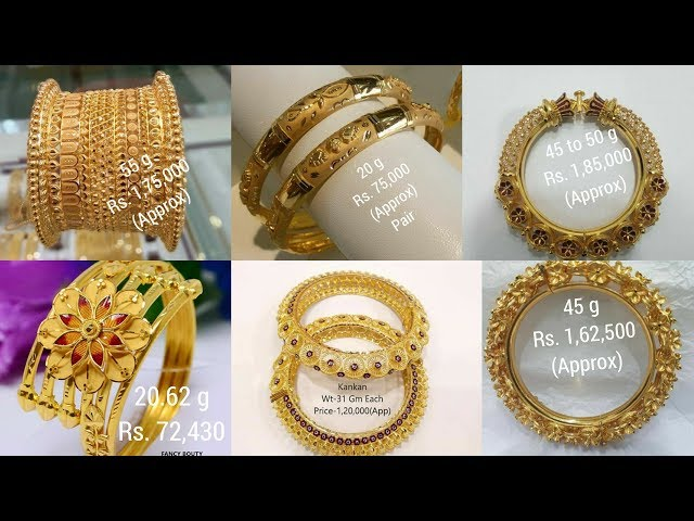 Latest Gold Bangle with WEIGHT and PRICE