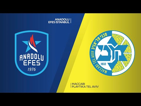 Anadolu Efes Istanbul - Maccabi Playtika Tel Aviv Highlights   EuroLeague, RS Round 7