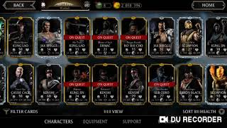 I AM SELLING MY MORTAL KOMBAT MOBILE ACCOUNT, LEVEL 60 (max level)