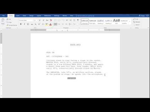 Writing Scripts On Microsoft Word