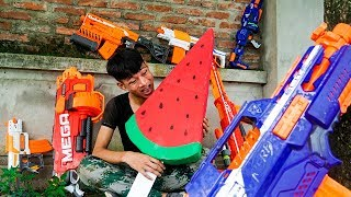 Battle Nerf War Special Unit Nerf Guns The Enemy Ice Cream Robbery Truck Nerf