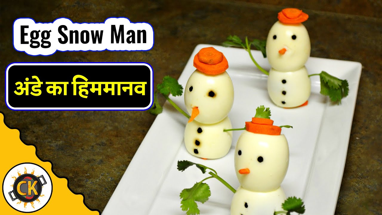 Egg Snow Man Innovative Kids recipe by Chawla\'s Kitchen Episode #262 ...