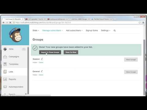 creating groups and associating subscribers with a group in mailchimp