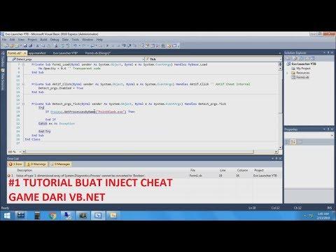 #1 Tutorial Membuat Simple Inject Cheat Game Online VB Net