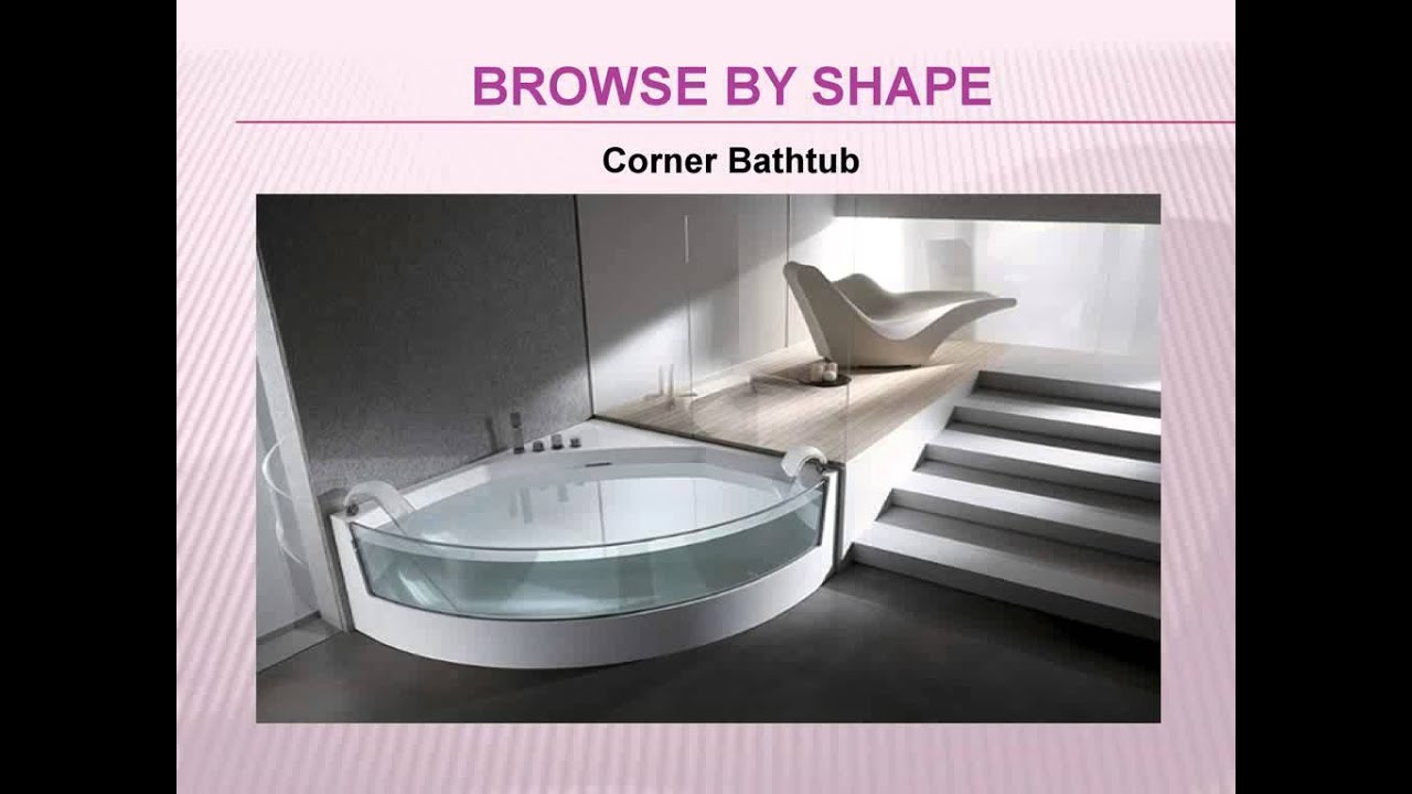 Types of Bathtubs by Leisure Concepts - YouTube