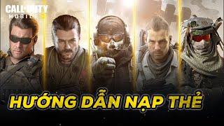 Hướng dẫn nạp thẻ trong game Call of Duty Mobile VN
