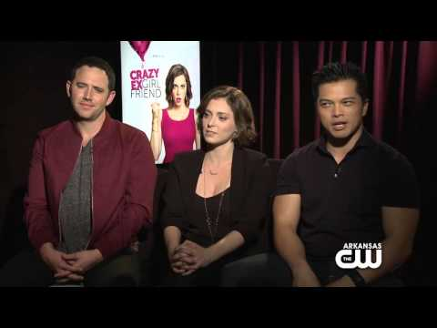 with Rachel Bloom, Vincent Rodriguez III & Santino Fontana from Crazy ExGirlfriend