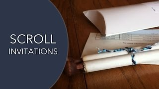 Scroll Invitations - Our Scroll Wedding Invitation