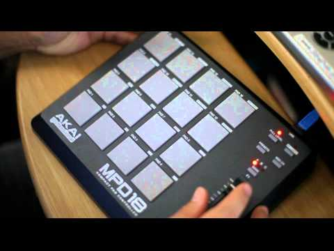 Making melody on Akai MPD18, mpd26, mpd24, mpd16 pad midi controller sampler