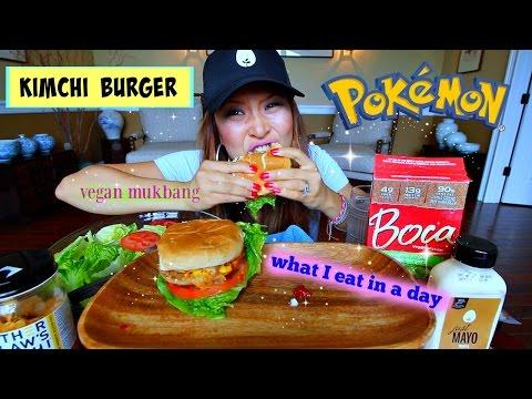 KIMCHI BOCA BURGER (what I eat in a day #4) MUKBANG
