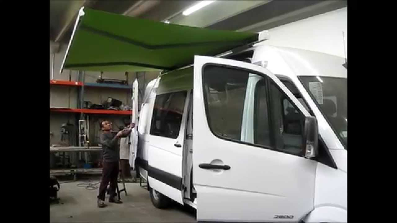 how to clean the awning on a camper