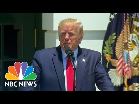 Watch President Donald Trump Take Aim At Democrats' 'Squad': 'They Hate Our Country' | NBC News