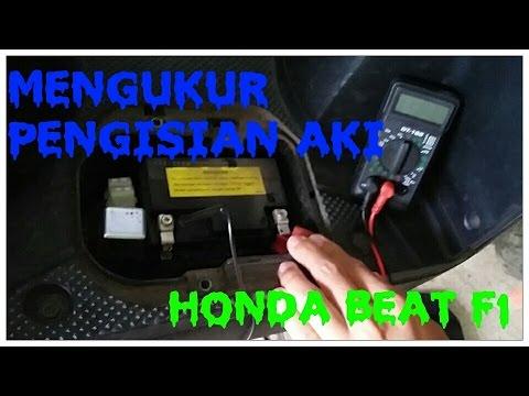 Cara Cek Pengisian Aki Honda Beat Youtube