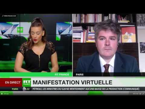 Aymeric Monville (PRCF) Appelle Sur RT France à La Mobilisation Pour La Libération De Julian Assange