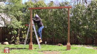 How to Build a Self Standing Wood Arch