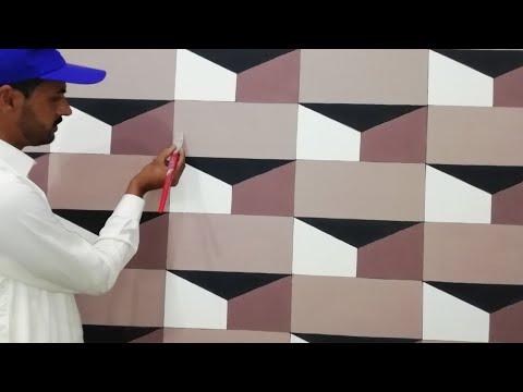 3D Wall Painting | How To Make 3D Wall Design | 3D Wall Texture Design | Interior Design Ideas