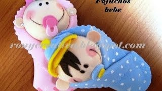 fofucha bebe de foamy o goma eva, NIÑO Y NIÑA CURSO COMPLETO / Ronycreativa