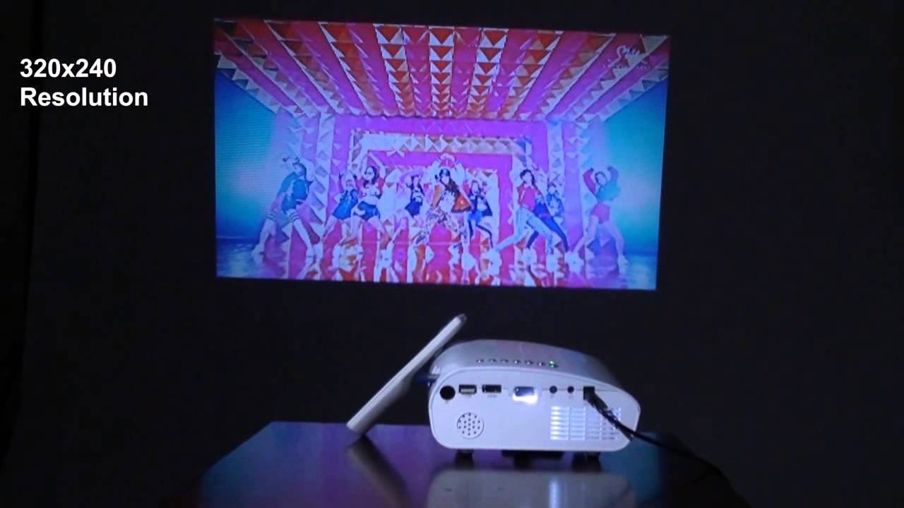 mini projecteur multimedia led 1080p youtube. Black Bedroom Furniture Sets. Home Design Ideas